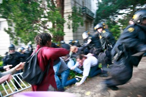 Police Attack, Students Fight Back