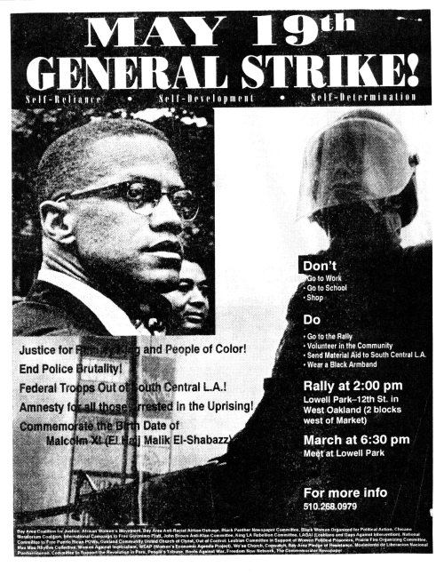 May 19th General Strike - Malcolm Flyer