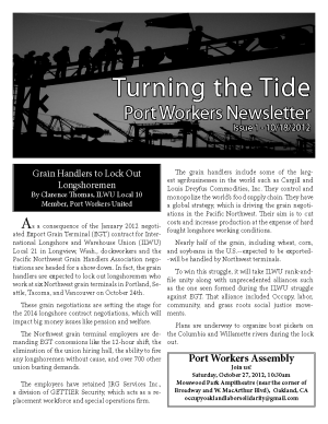 Cover of Port Workers Newsletter
